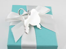 TIFFANY & CO SILVER POODLE PENDANT TAG CHARM FOR NECKLACE BRACELET BOX INCLUDED