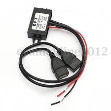 Coche Doble USB DC-DC Convertidor Módulo 12V a 5V 3A 15W Poder Adaptador a GPS