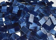 "50 1"" Calypso Blue Stained Glass Mosaic Tiles"