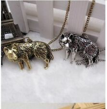 Occident Retro style fashion Wolf pendant Long chain charms necklace jewelry