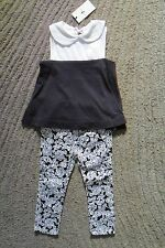 7 For All Mankind Baby Girls 2 Piece Black & White Outfit - Size 24 Months - NWT