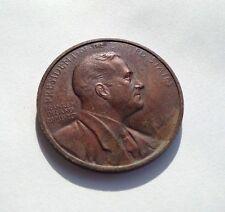 Vintage President Franklin Delano Roosevelt FDR Bronze Medal Coin Token