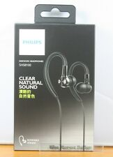 Genuine New Philips SHS8100 In Ear-Hook Headphones Clear Natural sound Earphones