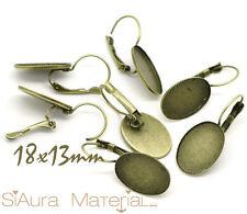 6x Brosires couleurs bronze pour 18x13mm Cabochons Camée DIY Bricolage Bijoux