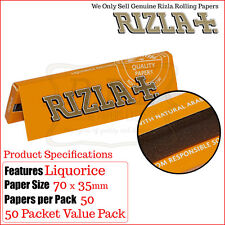 50 Packs Rizla Liquorice Regular Smoking Papers - Free Delivery
