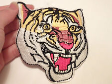 large tiger head patches applique  patch motif iron on sew on embroidered UK