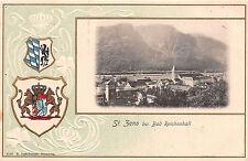St. Zeno bei Bad Reichenhall Wappen Postkarte geprägt