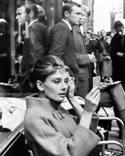 Breakfast at Tiffany's Audrey Hepburn on set smoking cigarette 8X10 Photo