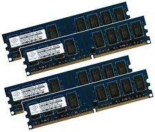 4x 2GB 8GB RAM PC Speicher DDR2 800 Mhz PC2-6400U f. Intel +AMD Low Density DIMM