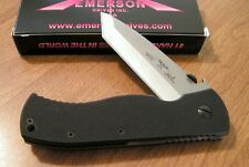 EMERSON New Super CQC7 Satin Plain Edge 154CM Tanto Blade With Wave Knife/Knives