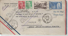 1950 France sea mail Cover to Dakar Senegal SS Djoliba