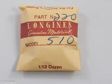 Longines Genuine Material Part #220 4th Wheel & Pinion for Longines Cal. 510