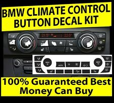 2006-2011 BMW E90 E91 E92 330I 335XI AC CLIMATE CONTROL BUTTON DECALS REPAIR SET