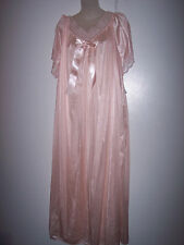 3-X 9784X PEACH 100% NYLON LONG NIGHT GOWN NW TAG  #G 354