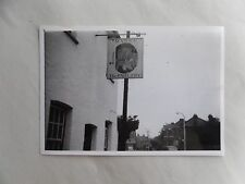 1950s B/W Photograph. English Pub Sign. THE PAUL PRY. Manns Beer. Rayleigh Essex