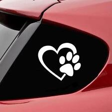HEART with DOG PAW Puppy Love Decal Window Sticker for Cars,Walls UK