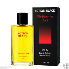 Christopher Dark Action Black Eau De Toilette Natural Spray for Men 100ml