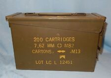 """Ammo Box Can for MM 7.62 M82 M13 10 3/4"""" x 7"""" x 3 3/4"""" Ammunition Canister"""