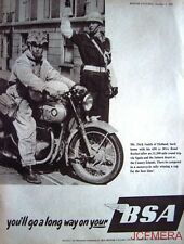 1957 Motor Cycle ADVERT - B.S.A. '650cc Road Rocket' Print AD