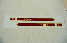 MARX CANADIAN PACIFIC 3000 MAROON & YELLOW LOCO ENGINE SIDE DECAL 2/SET LOOK!