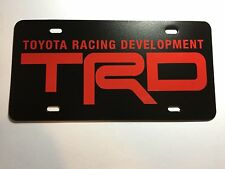 Red TRD Toyota Racing Development Plastic License Plate Tag Vanity