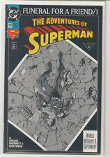 Adventures of Superman #498 Funeral For a Friend Jerry Ordway 9.6