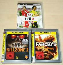 3 PLAYSTATION 3 PS3 SPIELE SAMMLUNG FIFA 12 KILLZONE 2 FAR CRY 2 EGO SHOOTER