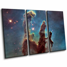 Eagle Nebula Pillars of Creation Space Large Blue Contemporary Canvas Wall Art