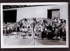 VINTAGE 1950 MODEL TRAIN RAILROAD LAYOUT IN BASEMENT ERIE WATER TOWER OLD PHOTO