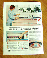 1959 GE General Electric 5-Cycle Filter-Flo Washer Ad