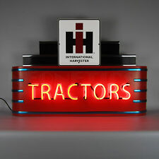 Neon sign lot 5 Tractor Signs Case IH Farmall International Harvester collection