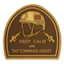 3D PVC Keep Calm & Tap Forward Assist Morale Patch Velcro Military Tactical