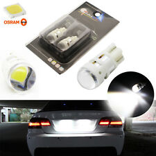 2x Cool White 168 194 2825 LED Bulbs For License Plate Lights (Powered By Osram)