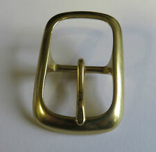 SOLID BRASS HEAVY FULL OVAL  BELT BUCKLE FOR 25mm STRAP