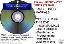 AT&T ACS II Partner Phone System Manual Guide Lucent Avaya + Mail Endeavor DVD