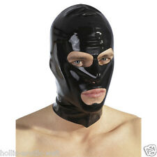 Latex kopfmaske noir fétiche fetish BDSM domina esclave sm costume Latex Masque