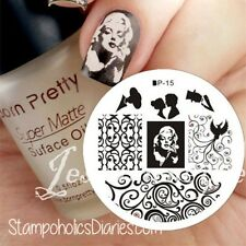 Nail Art Stamp Template Image Stamping Plate Vines & Lovers BORN PRETTY 15