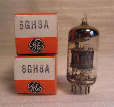 Lot Of 2 GE General Electric 6GH8A Electronic Vacuum Audio Radio Amp Tubes NOS