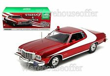 GREENLIGHT 1:18 STARSKY & HUTCH 1976 FORD GRAN TORINO RED CHROME EDITION 19023