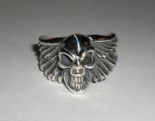 BILL WALL CUSTOM R356 WING GOOD LUCK SKULL RING size 5 BWL other sizes available