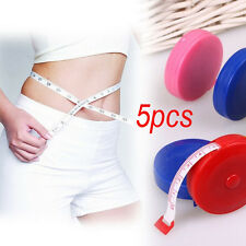 5pcs Retractable Tape Ruler Measure 60inch Sewing Cloth Dieting Tailor 1.5M Mini