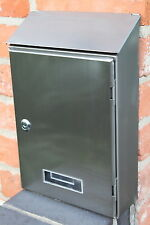 Modern Stainless Steel Wall Mounted Post Box - Letter Box