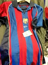 BARCELONA SHIRTS 2004/5 HOME BNWL AT £14DRI FITRED/BLUE NIKE 34 INCH