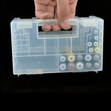 Clear Hard AA AAA C Battery Plastic Healthy Case Storage Box Holder Organiser