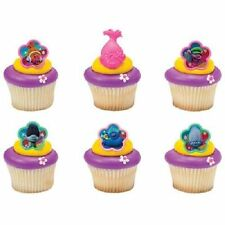 12 Troll Trolls Movie Cupcake Cake Rings Birthday Party Favors Doll Poppy Branch