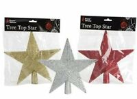 20cm Christmas Tree Top Star in Red, Gold or Silver (PM3)