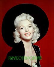 JAYNE MANSFIELD 8X10 Lab Photo COLOR 1950s Sexy Platinum Blonde Glamour Portrait
