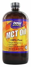 NOW FOODS  Sports - MCT Oil - 32 fl. oz (946 ml) Thermogenic Coconut Oil