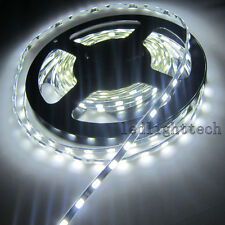 Black PCB 5mm Width 5730 300 SMD Pure White LED Strip Light Tube Waterproof 12V
