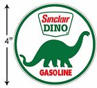SUPER HIGH GLOSS OUTDOOR 4 INCH SINCLAIR DINO ROUND DECAL STICKER